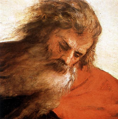 """Tiziano Vecellio, particolare de """"L'Assunzione della Vergine"""""""